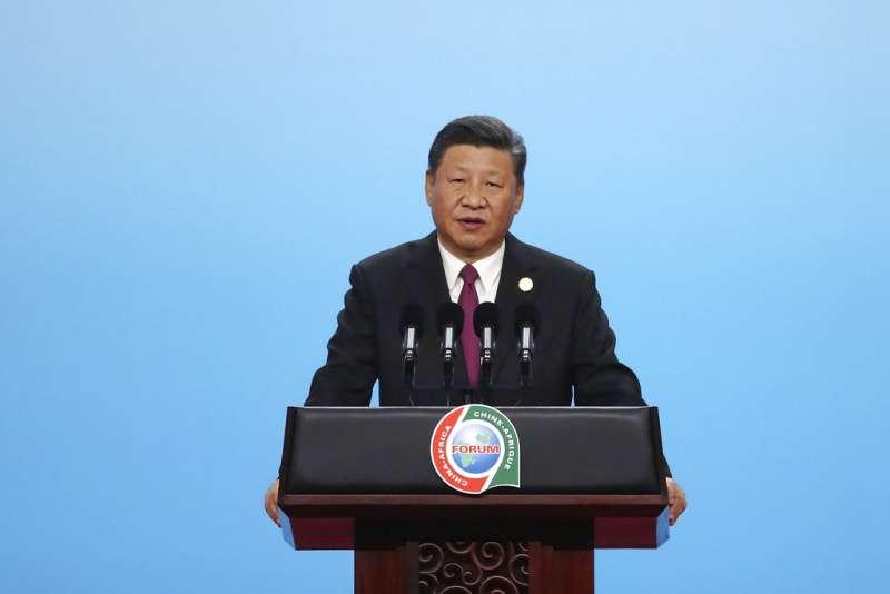 2018年9月3日,中國國家主席習近平在中非合作論壇開幕式致詞。(AP)