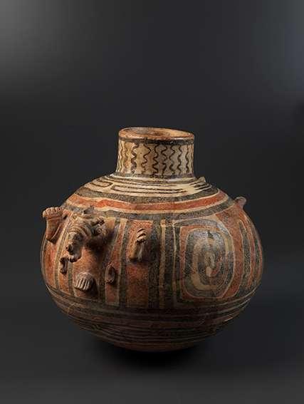 巴西KONDURI文化的彩繪瓷器。(巴西國家博物館提供)