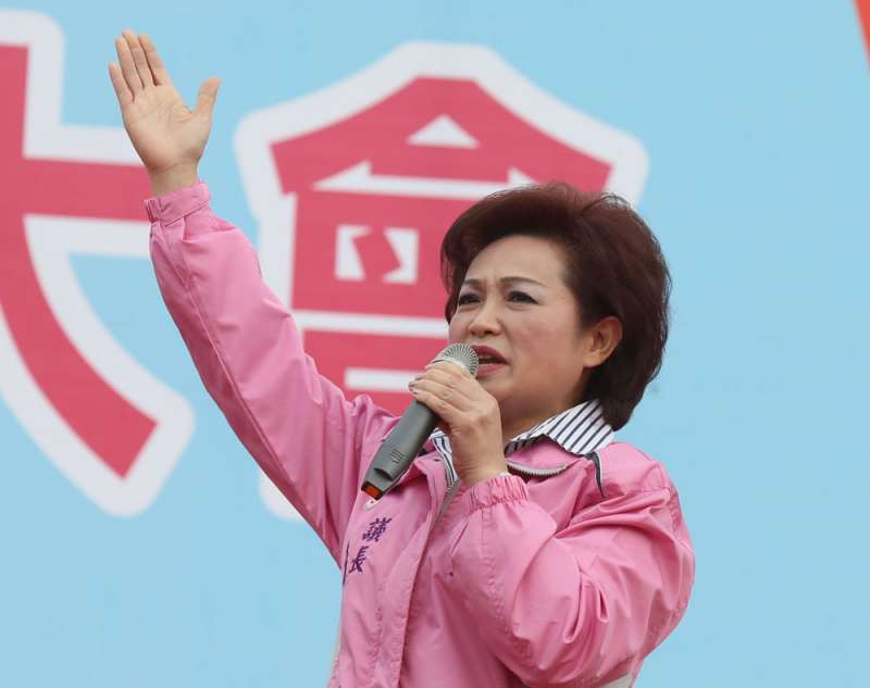 藍綠兩黨都評估蕭淑麗勝出機會不高,但攪局的作用卻很強。(林瑞慶攝)