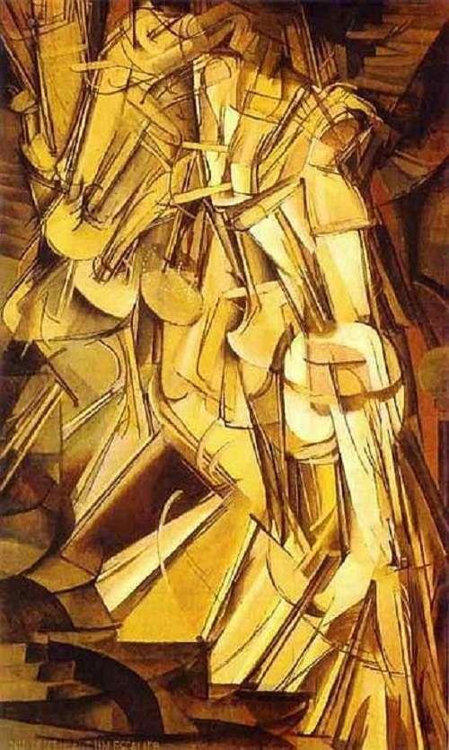 杜象的《走下階梯的裸體女人》,1912年。