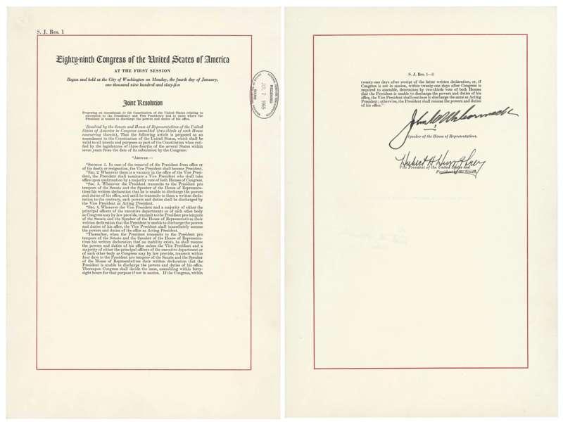 美國憲法增修條文第25條,關於總統退位的規定(AP)