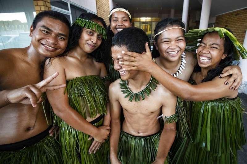 諾魯表演團體在太平洋島國論開開幕式上表演。(AP)