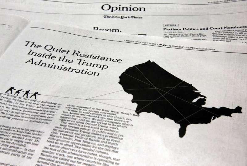 引發美國政壇風暴的川普政府「反抗軍」《紐約時報》投書(AP)