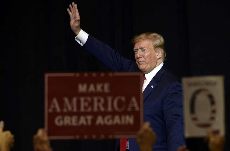 美國總統川普巡迴各州進行造勢。(美聯社)