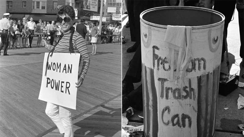 她們把禁錮女性的象徵物丟進自由垃圾桶(圖/BBC中文網)