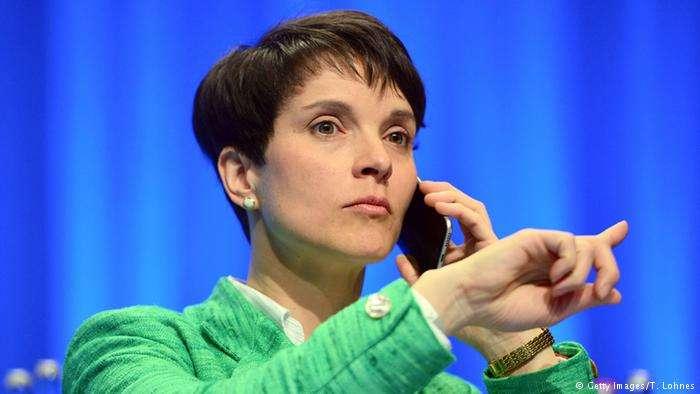 德國極右派政黨AfD前任主席佩特裡(Frauke Petry)。(德國之聲)