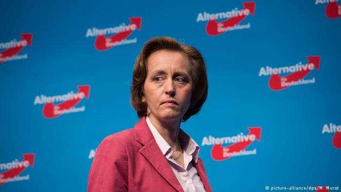 德國極右派政黨AfD副主席馮施托爾西(Beatrix von Storch)。(德國之聲)