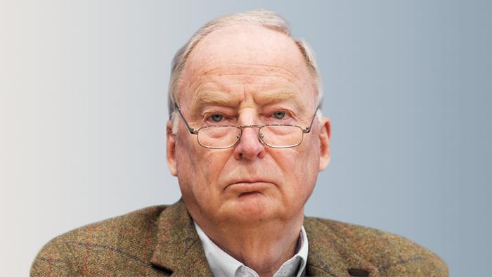 德國極右派政黨AfD兩位現任主席之一的高蘭德(Alexander Gauland)。(德國之聲)