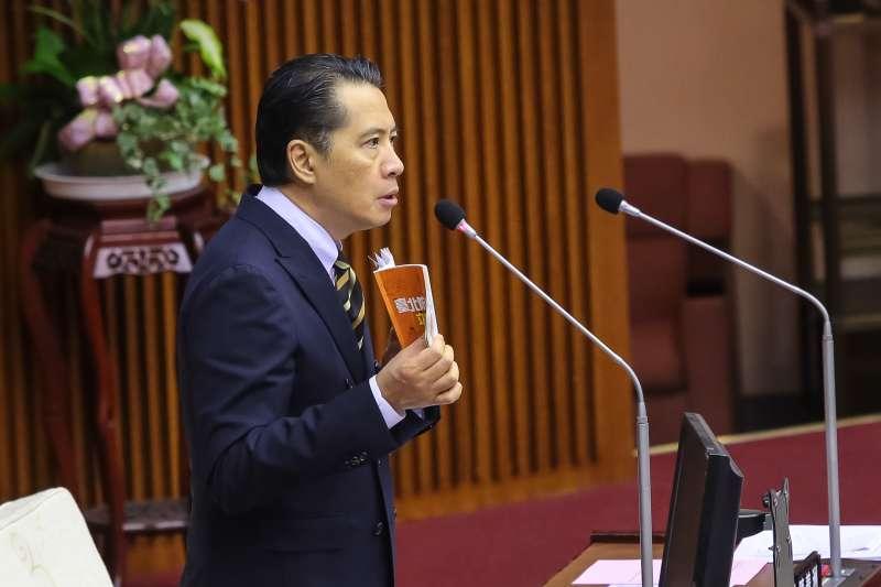 20180911-台北市議員歐陽龍11日於市議會總質詢。(顏麟宇攝)