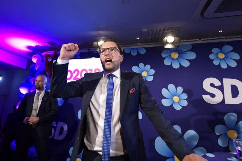 瑞典大選:極右派的瑞典民主黨黨魁奧克森(AP)