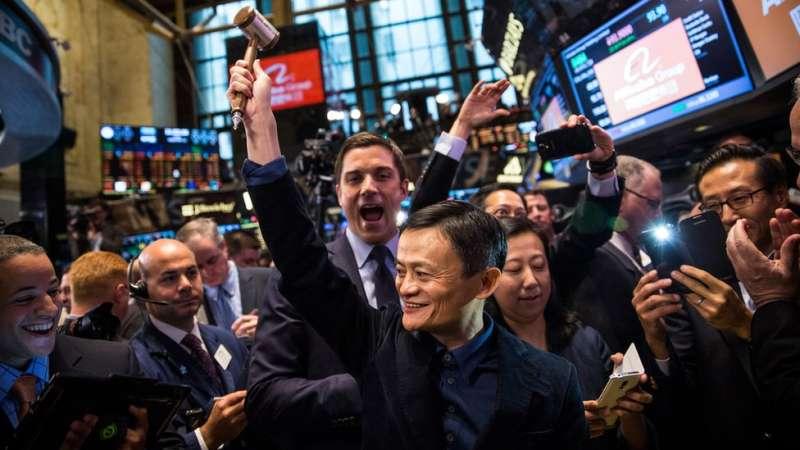阿里巴巴2014年在紐約上市,規模達250億美元,創下歷史記錄。(圖/BBC中文網)