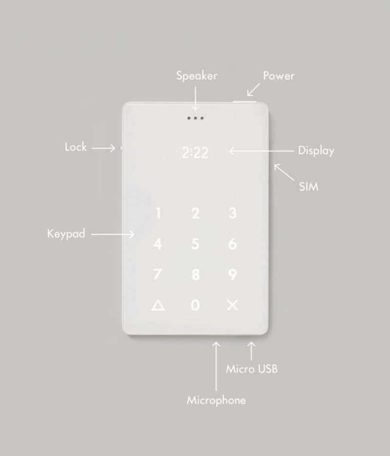 Light Phone 設計簡單俐落。(圖/瘋設計提供)