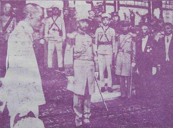 張作霖在北京居仁堂就任陸海軍大元帥(圖/澎湃新聞)