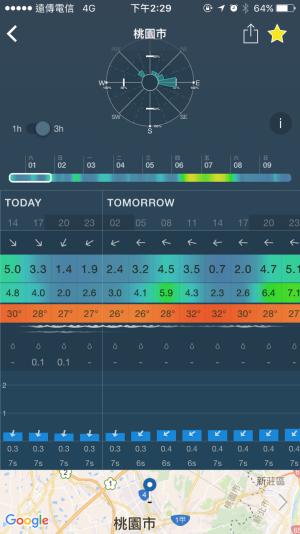 Windy App介面示意圖。(圖/智慧機器人網提供)