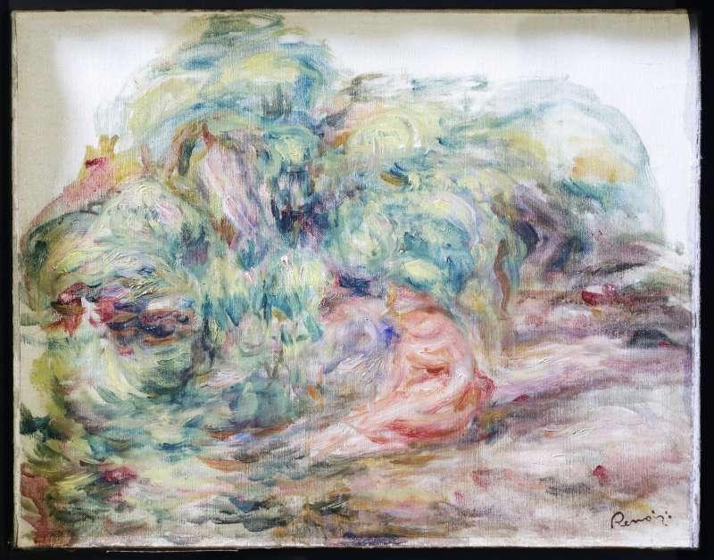 雷諾瓦作品《花園中的2名女子》(Deux Femmes Dans Un Jardin)(AP)