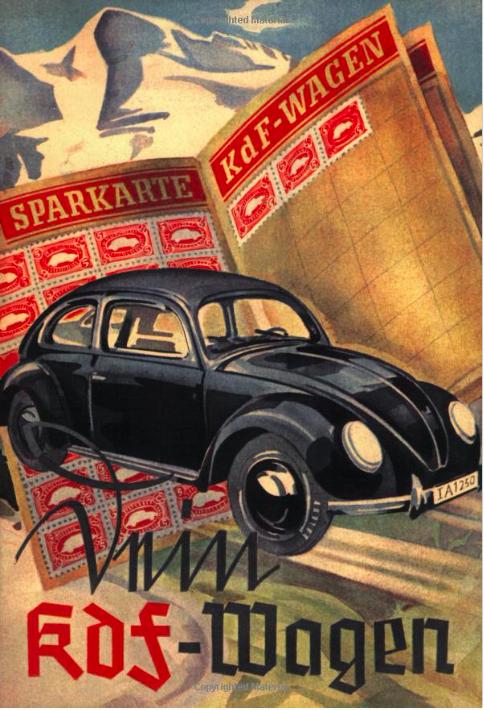 書籍《你的KdF車》(Dein KdF-Wagen)即以「儲蓄集點卡」(Sparkarte)和「人民之車」(Volkswagen)為封面。