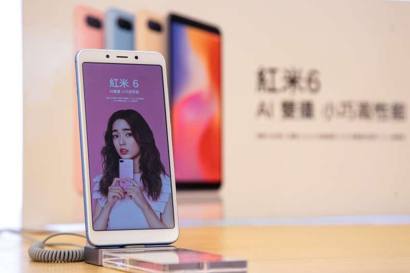 20180914-小米之家台北信義威秀店,小米手機紅米6。(顏麟宇攝)