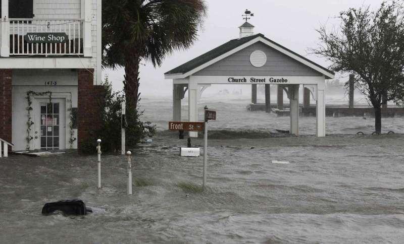 颶風「佛羅倫斯」造成北卡羅萊納州多地淹水(AP)