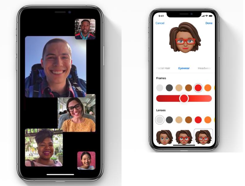iOS 12帶來更娛樂性的社交功能,讓用戶能自製與自己相像的表情符號。(圖/Apple,數位時代提供)