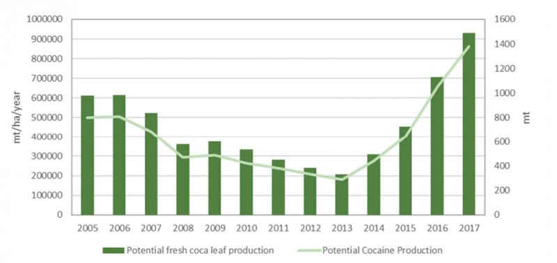 聯合國的報告指出,哥倫比亞的古柯葉種植面積計計將繼續增加。(UNODC Colombia)