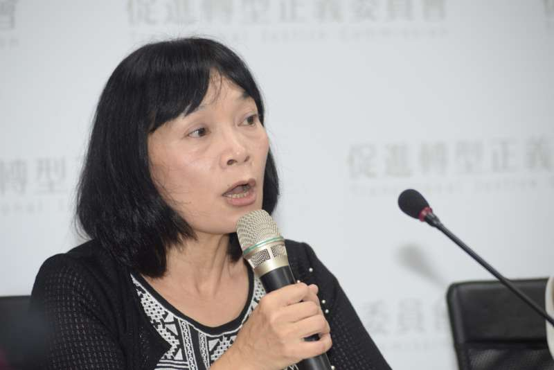 20180921-促進轉型正義委員會「912專案調查報告」記者會,發言人楊翠。(甘岱民攝)