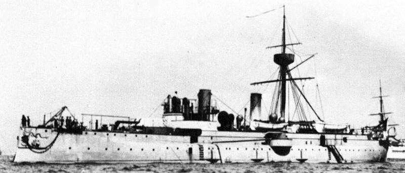 經遠號裝甲巡洋艦(維基百科.公有領域)