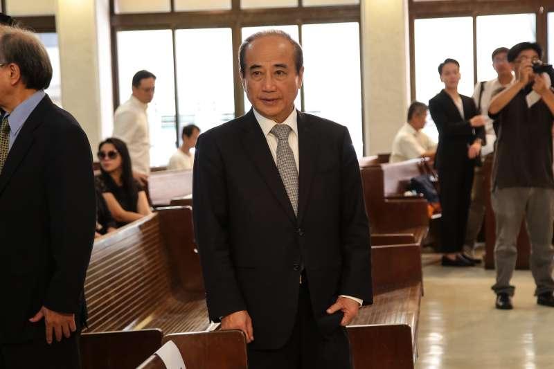 20180922-前立法院長王金平22日出席「楊偉中追思紀念會」。(顏麟宇攝)