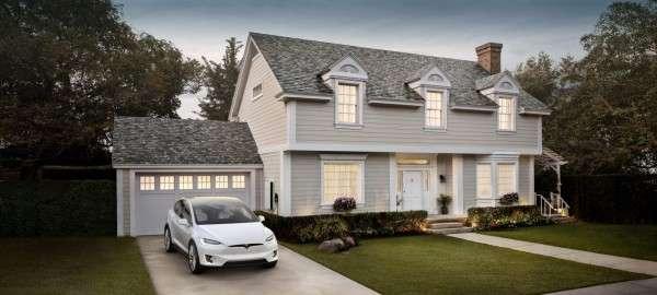 根據《路透社》報導,截至今年5月,只有12家特斯拉瓷磚屋頂接入了電網。(圖/Tesla)