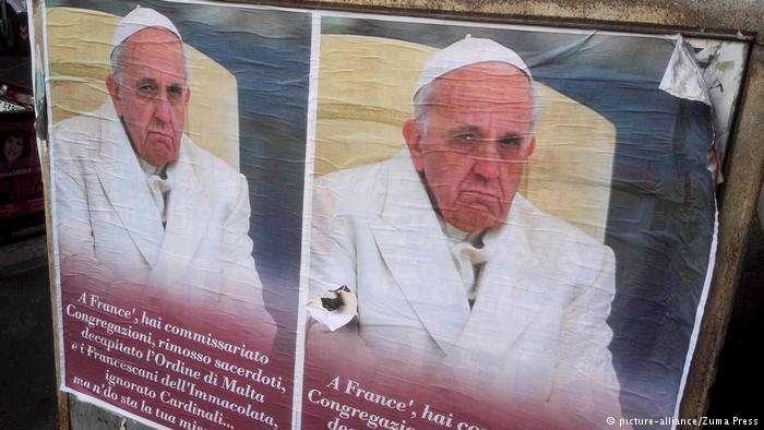天主教會性侵醜聞燃燒到德國,圖為教宗方濟各。(德國之聲)