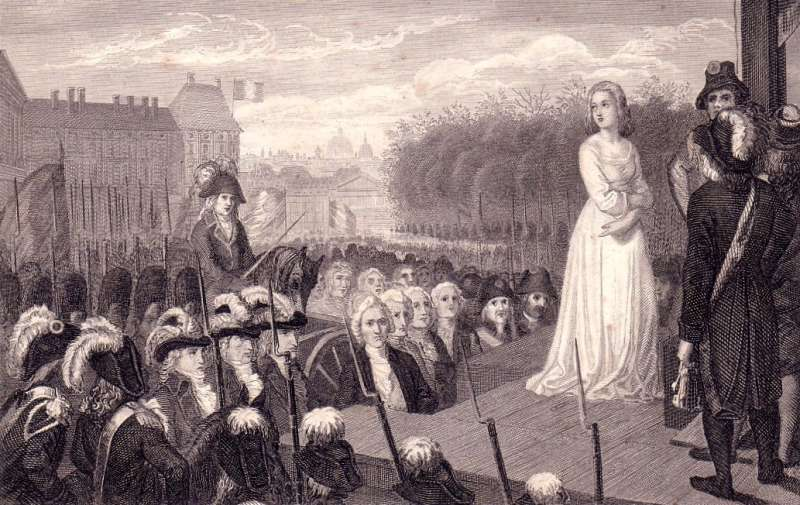 法王路易十六被處決後,妻子瑪麗安東妮(Marie Antoinette)同樣也魂斷斷頭台,享年38歲。 (圖/翻攝自維基百科)