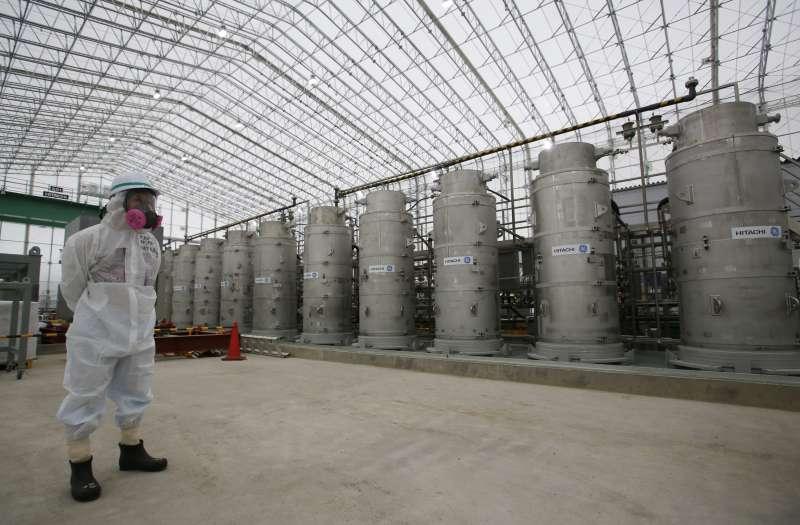 日本福島核電廠,放射性污水儲存槽,福島核災(AP)