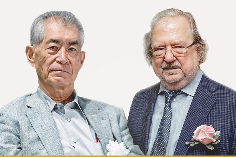 20181001-SMG0034-I01-2018年諾貝爾生理學或醫學獎得主:美國免疫學家艾立森(右)與日本免疫學家本庶佑共獲殊榮(AP)