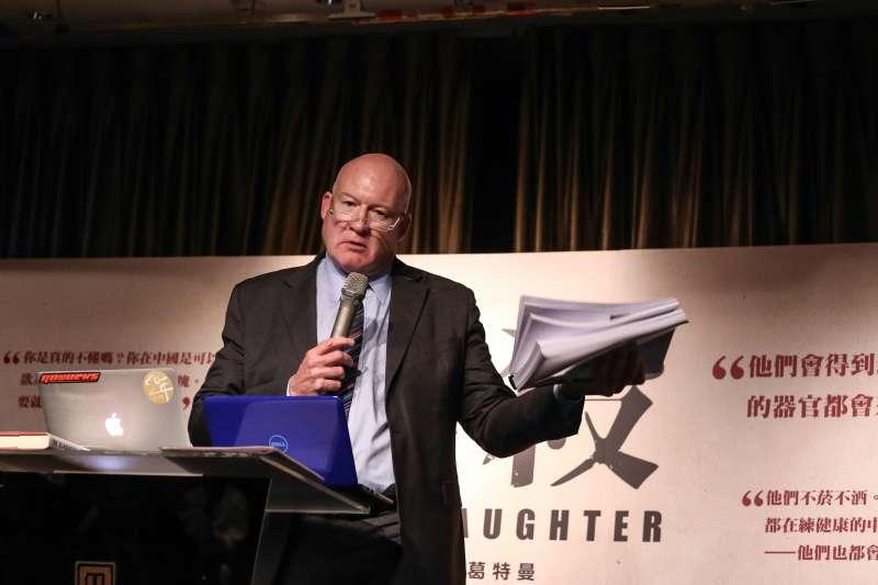 20181002-《屠殺》作者伊森.葛特曼來台國際記者會。(陳品佑攝)