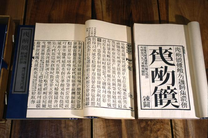 dada2000-5:圖五:徐冰於1987至1991年創作的「天書」。(取自Xu Bing Studio)