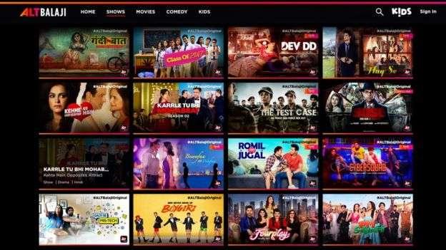ALTBalaji說他們必須為訂閲者正確訂價並正確選擇內容。(BBC中文網)