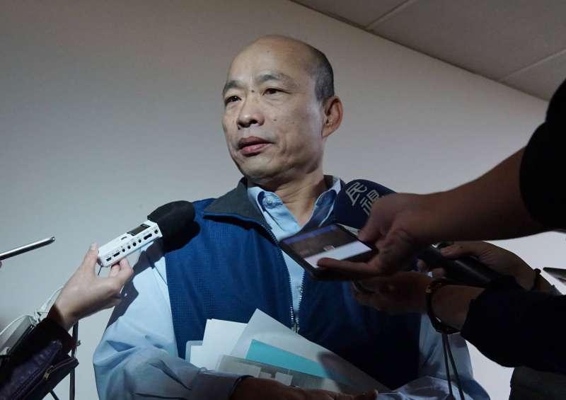 高雄市長參選人韓國瑜。(盧逸峰攝)