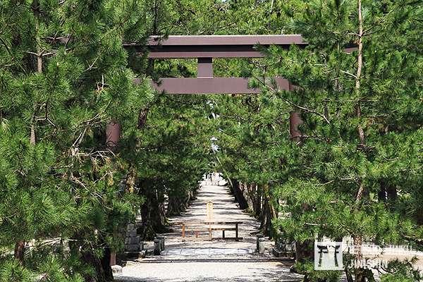 出雲大社是日本神話的發源地之一,也是求姻緣的名所,其最有名的特色,是極少數的裡參道為下坡的神社,相當特殊。(攝影:陳威臣)