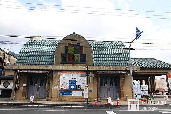 一畑電車的出雲大社前車站,建於1930年,已列為近代化產業遺產。(攝影:陳威臣)