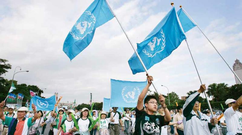 20181005-聯合國旗幟。(圖/多維提供)