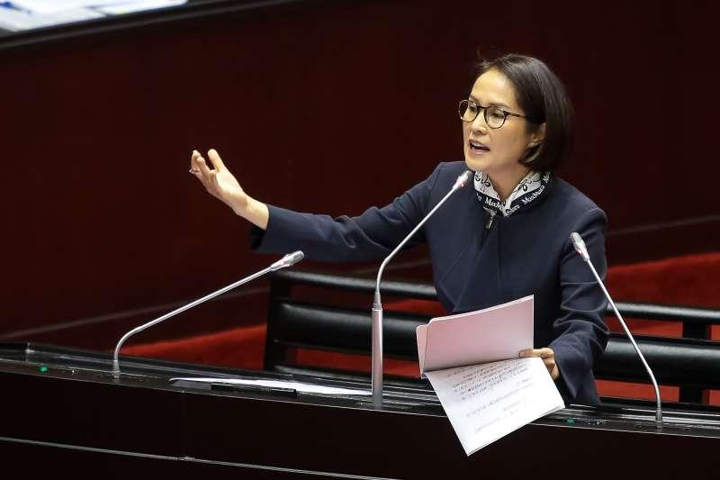 20181005-無黨籍立委高金素梅5日於立院質詢。(顏麟宇攝)