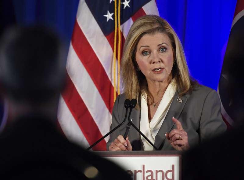 美國共和黨籍的田納西州聯邦參議員候選人布萊克本(Marsha Blackburn)(美聯社)