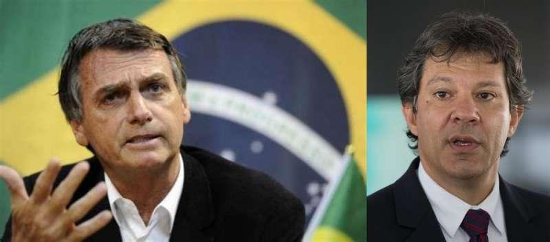Jair Bolsonaro博索納羅(左/澎湃新聞提供)Fernando Haddad哈達德(右/圖取自維基百科)