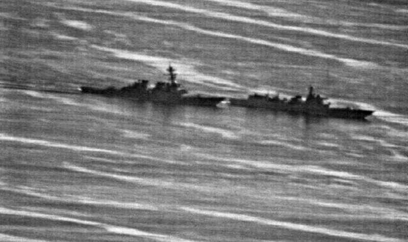 中國軍艦艇以危險的動作攔截美艦,讓美國軍方怒不可遏。(Us Navy phot)