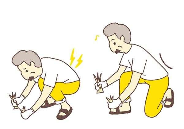 在院子除草時,太過於專注認真,很容易蹲太久。(圖/華人健康網提供)
