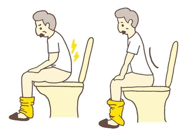 坐在馬桶上,尤其是用力時容易低頭、彎腰。(圖/華人健康網提供)