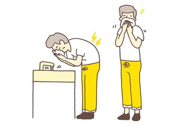 洗臉時,身體容易出現低頭、彎腰的姿勢,尤其當雙手捧水時,上半身沒有支撐力,會對腰部造成很大的負擔。(圖/華人健康網提供).jpg
