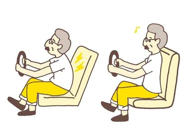 專注開車時,因為注意力集中在前方道路,下巴容易向前伸,變成駝背姿勢。(圖/華人健康網提供)