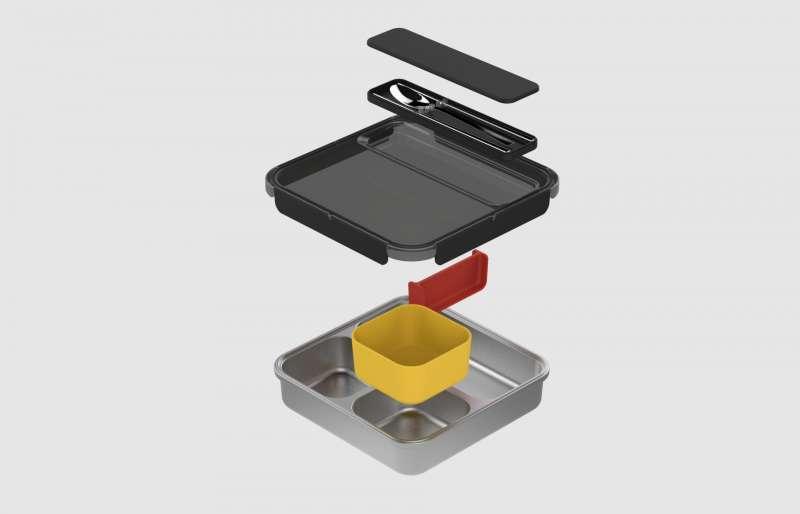 謝榮雅設計的動態餐盤具有強烈的機能性,方便學童日常使用(圖片來源=灃食教育基金會)