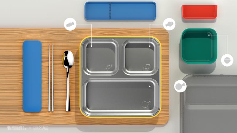 餐盒設計為精準的正方形,跳脫以往的用餐想像(圖片來源=灃食教育基金會)