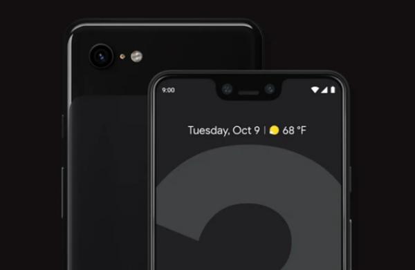 Google Pixel 3 XL前螢幕也有iPhone X的瀏海設計出現。(圖/Google)